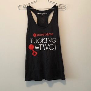 Pure Barre 'TUCKING for TWO' Racerback Tank MED